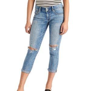 American Eagle Artist Crop Jeans Light Wash 00
